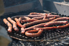 Sausage grilled Royalty Free Stock Images