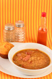 Sausage Gumbo with Cornbread Royalty Free Stock Photography