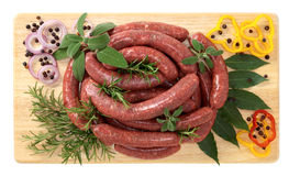 Sausage horse meat Royalty Free Stock Images