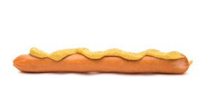 Sausage for hot dog isolated Stock Photography