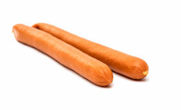 Sausage for hot dog isolated Royalty Free Stock Photography