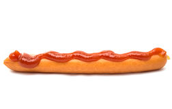 sausage for hot dog isolated Stock Image