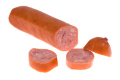 Sausage on isolated Royalty Free Stock Photo
