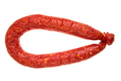 Sausage on isolated Stock Photography
