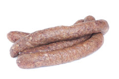 Sausage isolated on white Stock Image