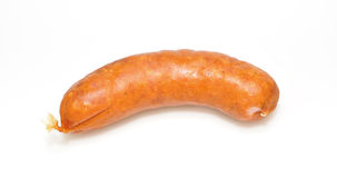 Sausage isolated on white background. Stock Image