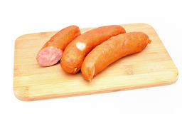 Sausage isolated on white background. Royalty Free Stock Photography