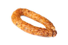 Sausage  isolated on white Royalty Free Stock Photo