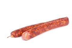 Sausage isolated on white background Royalty Free Stock Photos