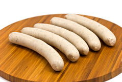 Sausage isolated on a white background Stock Image