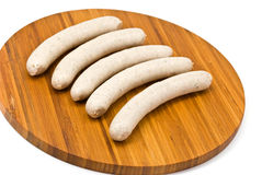Sausage isolated on a white background Stock Photos