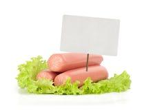 Sausage isolated on white background Stock Photo