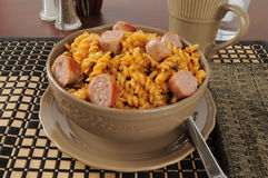 Sausage Jambalaya Royalty Free Stock Photography