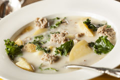 Sausage and Kale Tuscana Soup Royalty Free Stock Images