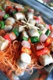 Sausage kebab Stock Images