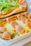 Sausage Lasagna Royalty Free Stock Photography