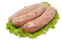 Sausage and lettuce Stock Image
