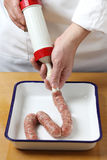 Sausage making Royalty Free Stock Photography