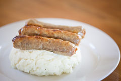 Sausage and mash Royalty Free Stock Image