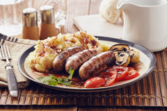 Sausage and mash Royalty Free Stock Photo