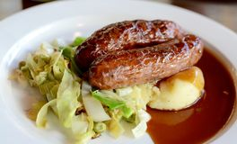Sausage and Mash Royalty Free Stock Photos