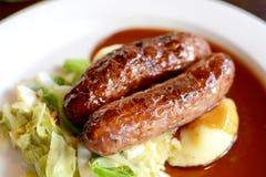 Sausage and Mash Stock Photo