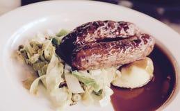 Sausage and Mash Stock Image