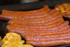 Sausage and meat Royalty Free Stock Photos