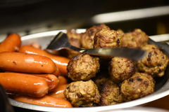 Sausage and meatballs Stock Photo