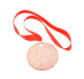Sausage medal isolated Royalty Free Stock Photo