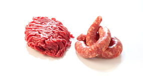 Sausage and minced meat Royalty Free Stock Photo