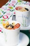 Sausage olive pasta Stock Photo