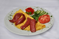 Sausage omelet Stock Photos