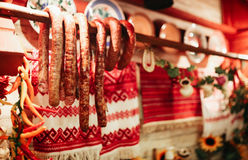 Sausage and other items Royalty Free Stock Photography