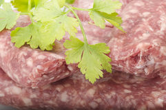 Sausage with parsley Royalty Free Stock Photos