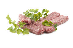 Sausage with parsley Royalty Free Stock Image