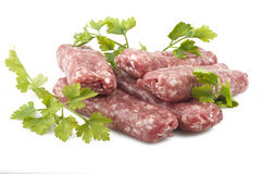 Sausage with parsley Stock Images
