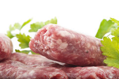 Sausage with parsley Royalty Free Stock Photography