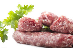 Sausage with parsley Stock Image