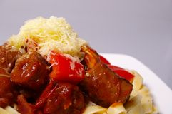 Sausage pasta Royalty Free Stock Photography