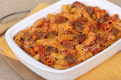 Sausage Pasta Casserole Royalty Free Stock Photo