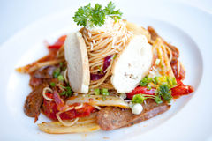 Sausage pasta Royalty Free Stock Photo