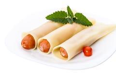 Sausage pasta Royalty Free Stock Image
