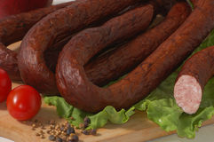 Sausage and pepper grains Stock Images