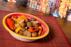 Sausage and Peppers Stock Photo