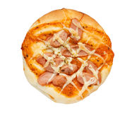 Sausage pizza bread Stock Photography