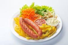 Sausage on plate Stock Photography