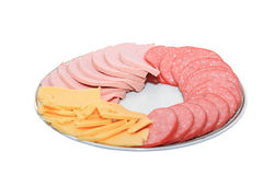 Sausage in plate Royalty Free Stock Photo