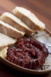 Sausage plate Royalty Free Stock Photos