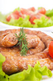 Sausage from pork and beef with tomatoes and spice Royalty Free Stock Photos